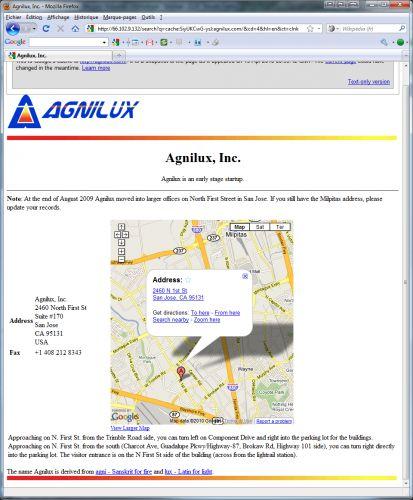 Site web d'Agnilux