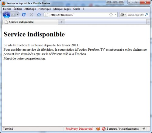 tv.freebox.fr, c'est fini