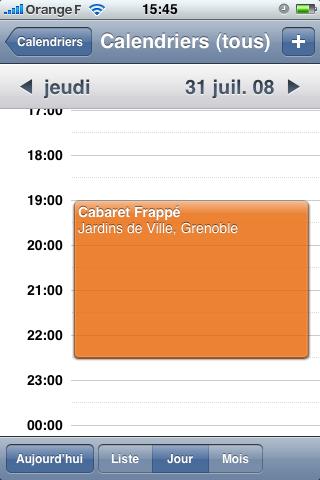 meilleur calendrier iphone