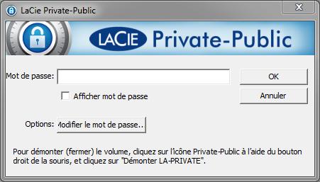 LaCie Private-Public : montage du volume