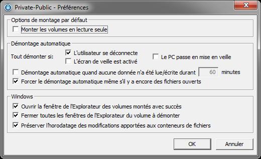 LaCie Private-Public : options