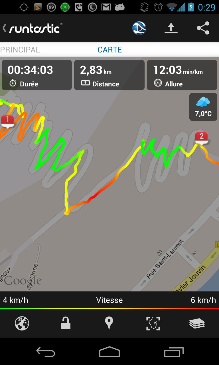 Performances GPS du Nexus 4