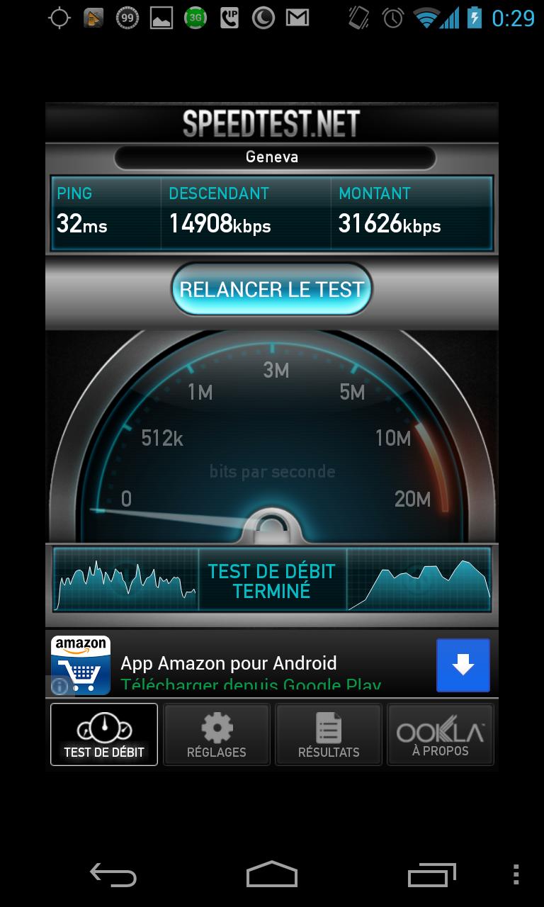 Performances Wi-Fi du Nexus 4