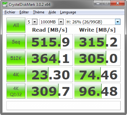 Samsung 830 : performances SATA 6 Gbit/s