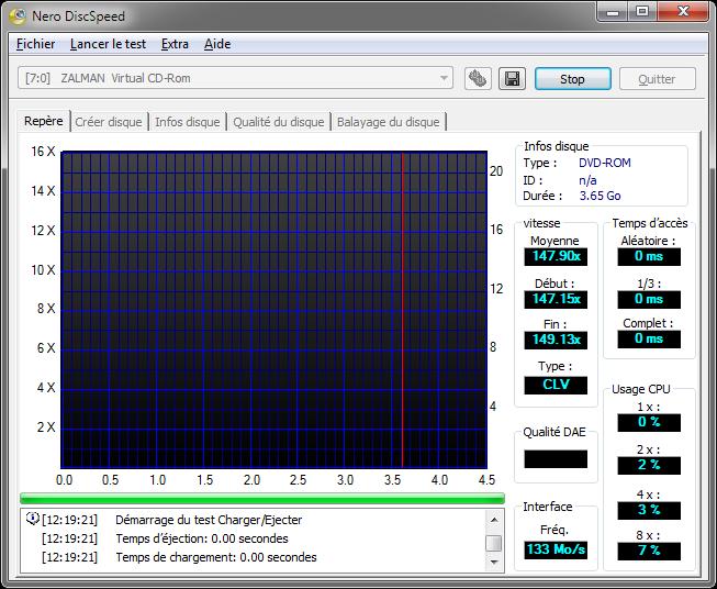 Zalman ZM-VE300 : performances DVD virtuel en USB 3.0