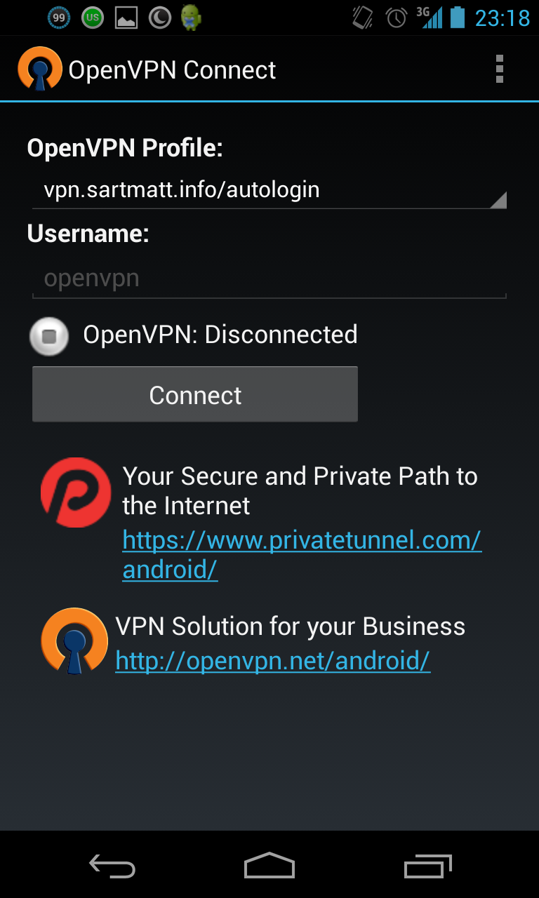 OpenVPN Connect sur Android