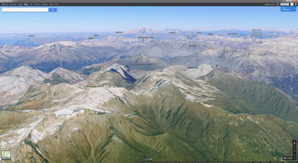Le Mont-Blanc et les Alpes
