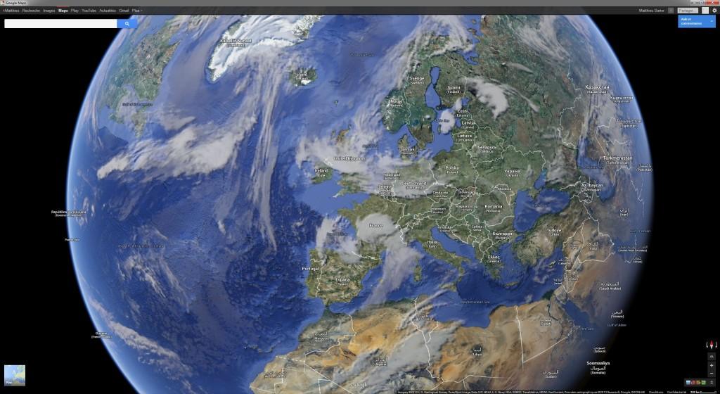 Nuages sur l'Europe le 18/05/2013 vers 12h30