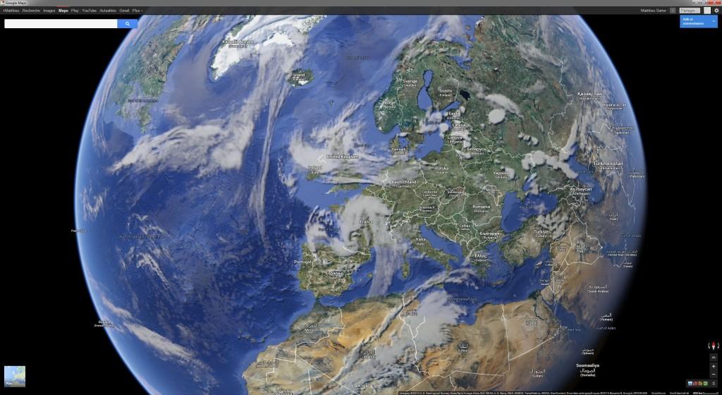 Nuages sur l'Europe le 18/05/2013 vers 19h