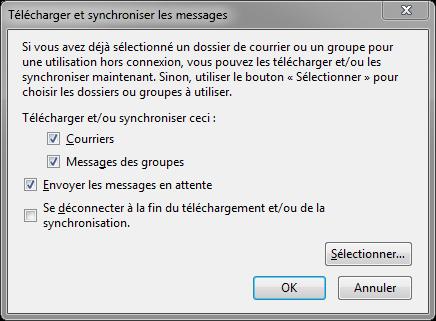 Thunderbird : synchronisation