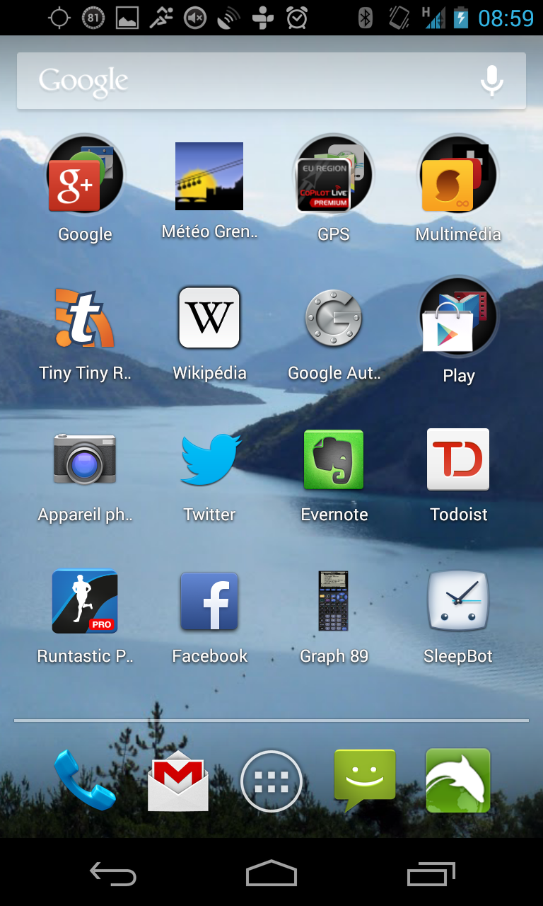 Le launcher d'Android 4.3 Jelly Bean