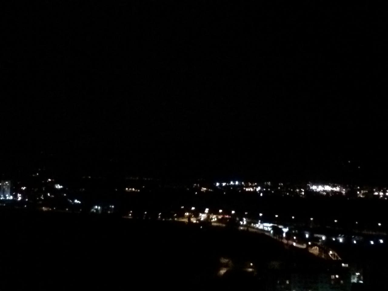 Caméra frontale, nuit