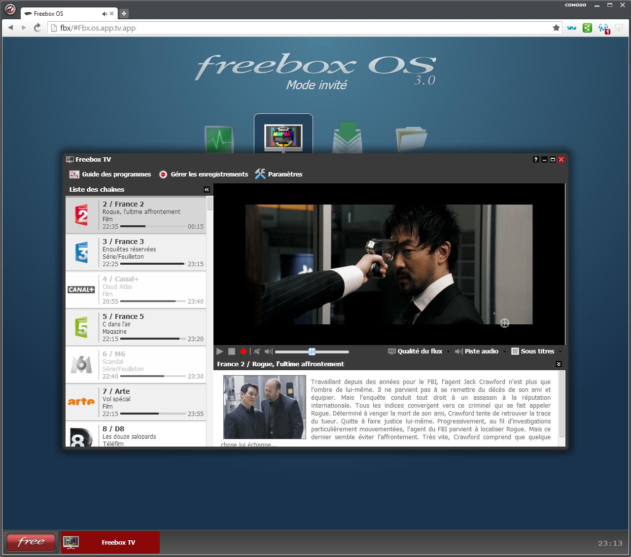 La TV dans Freebox OS