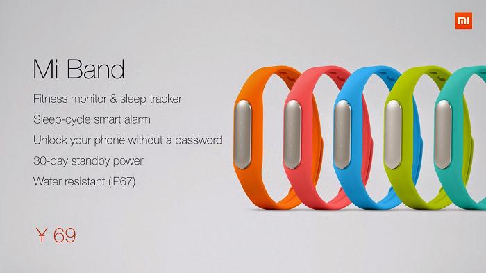 Bracelet connecté Xiaomi Mi Band