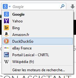 DuckDuckGo dans Firefox 33.1