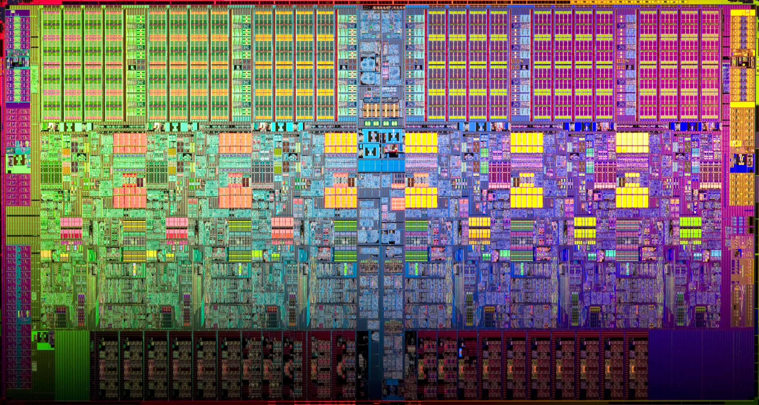 Die d'un CPU 6 cœurs