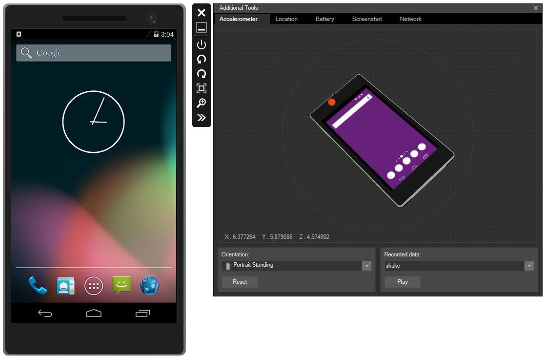 Émulateur Android de Visual Studio