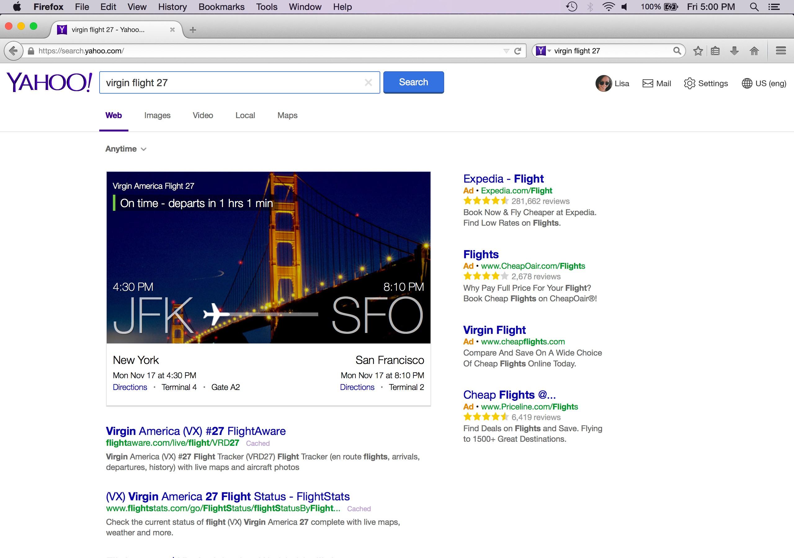 Le nouveau Yahoo Search