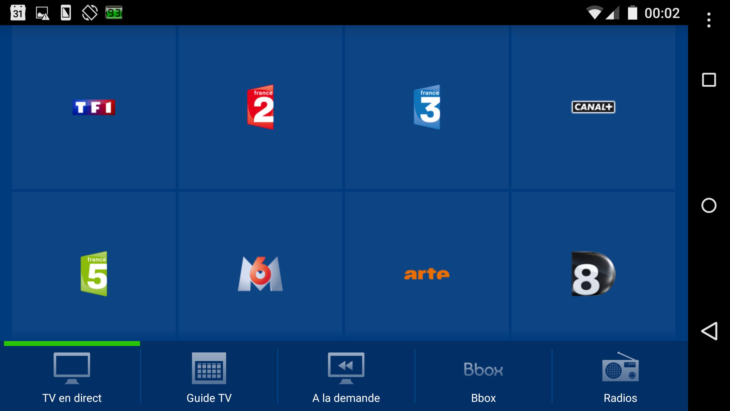 B.tv fonctionne sans problème sur le Nexus 6...