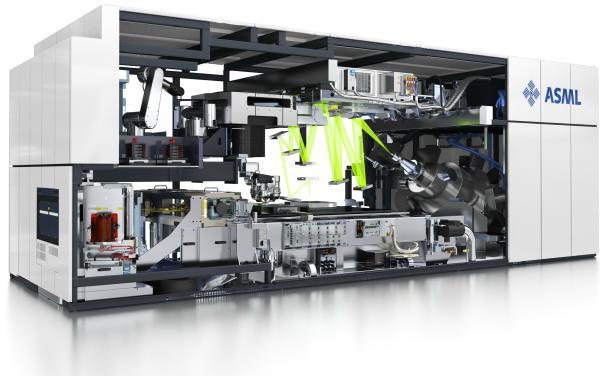 Une machine à photolitographie de chez ASML, l'un des leaders du secteur