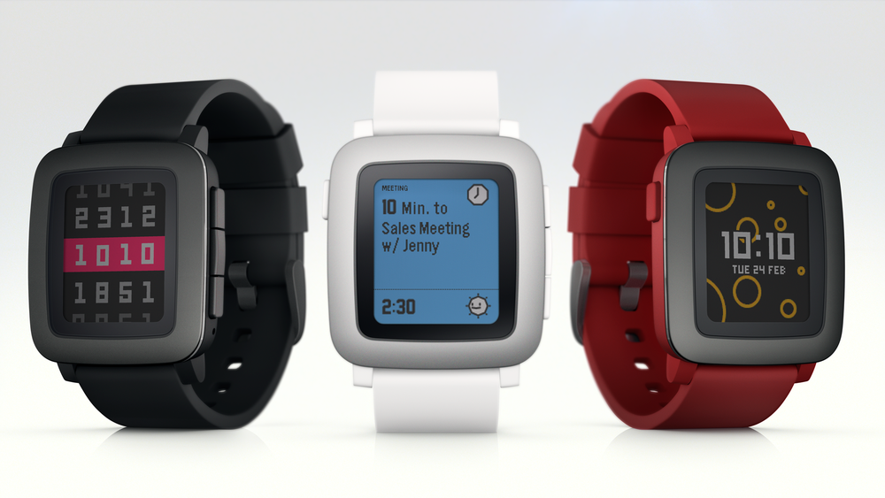Les trois versions de la Pebble Time