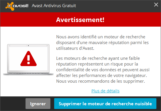 Alerte Avast