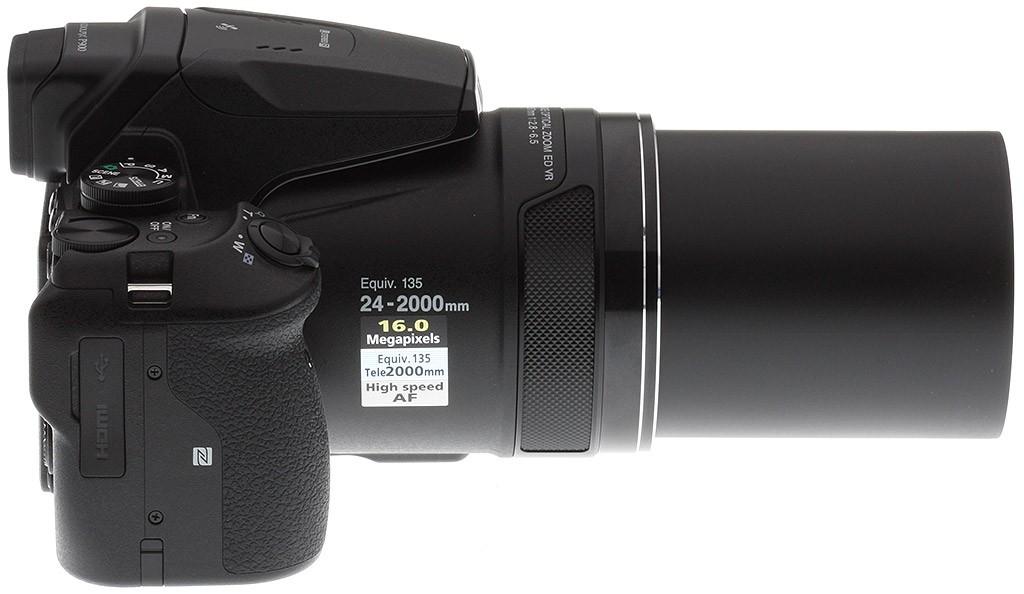 Le Nikon P900 à fond de zoom