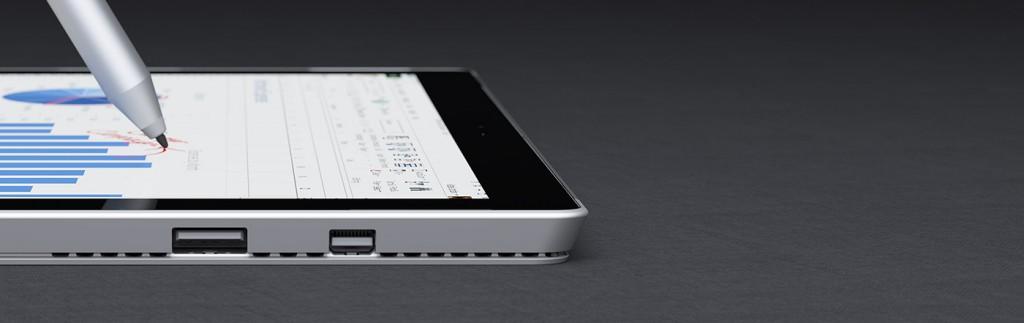 Surface 3 : connectique et stylet