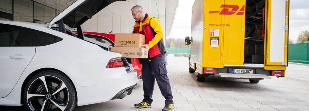 Livraison Amazon dans le coffre de voiture