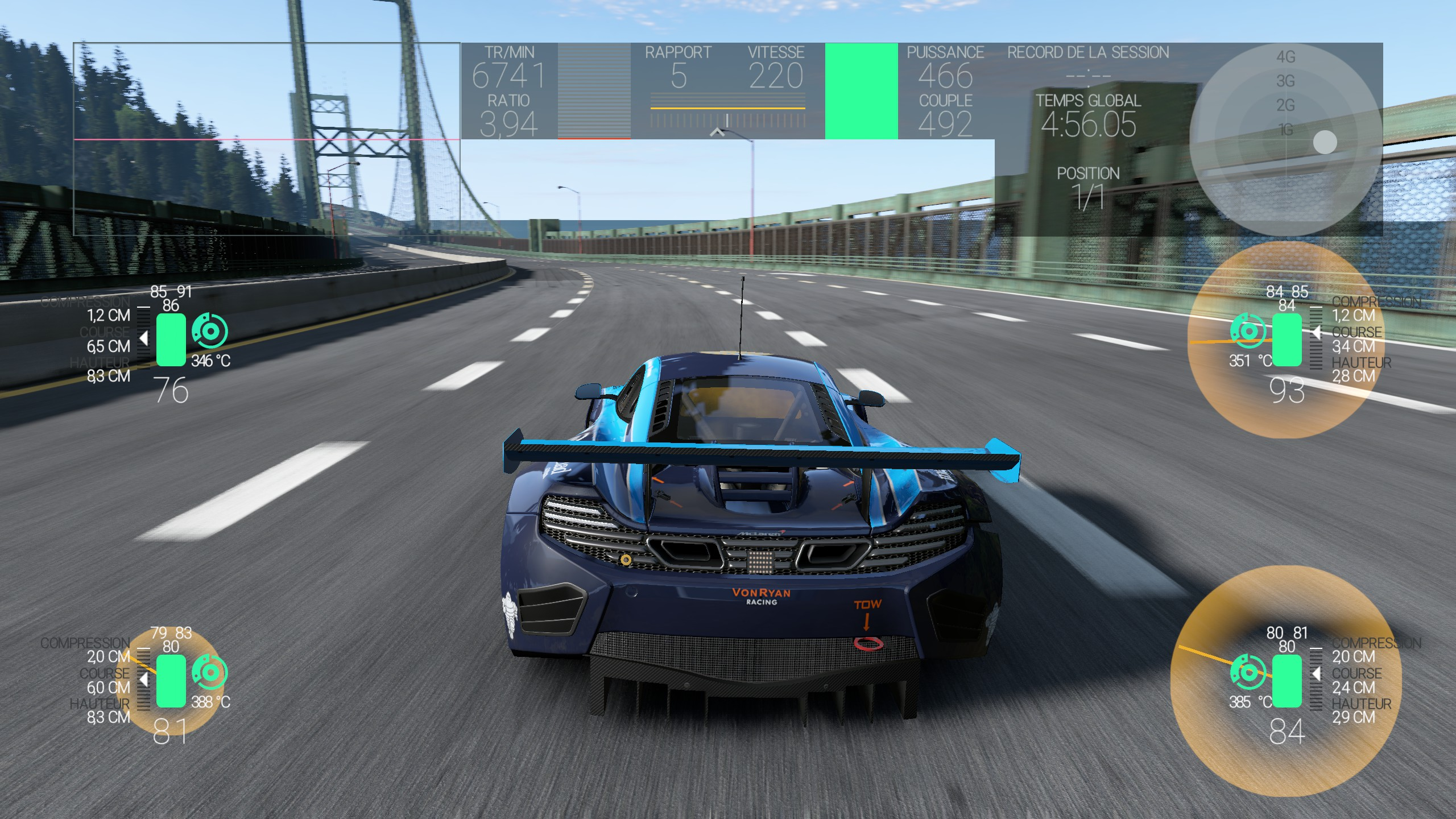 La télémétrie de Project CARS