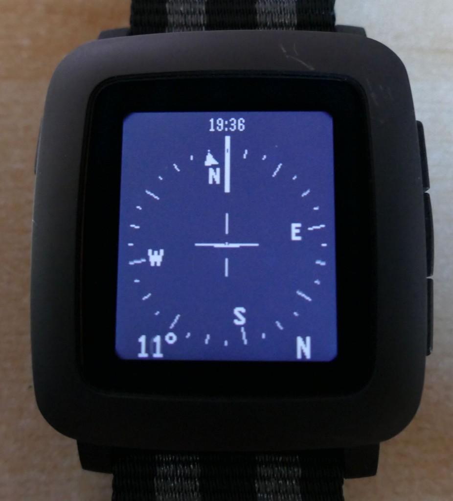 Pebble Time : Compass