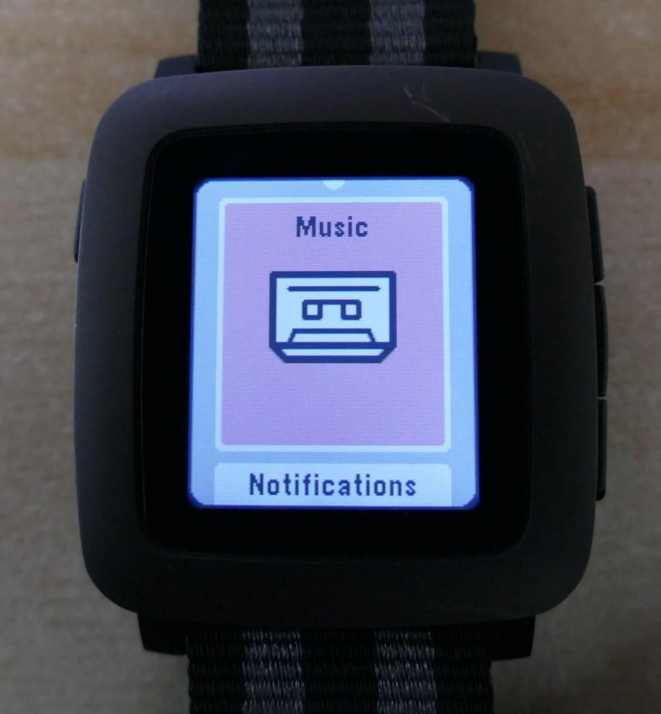Pebble Time : le menu des applications