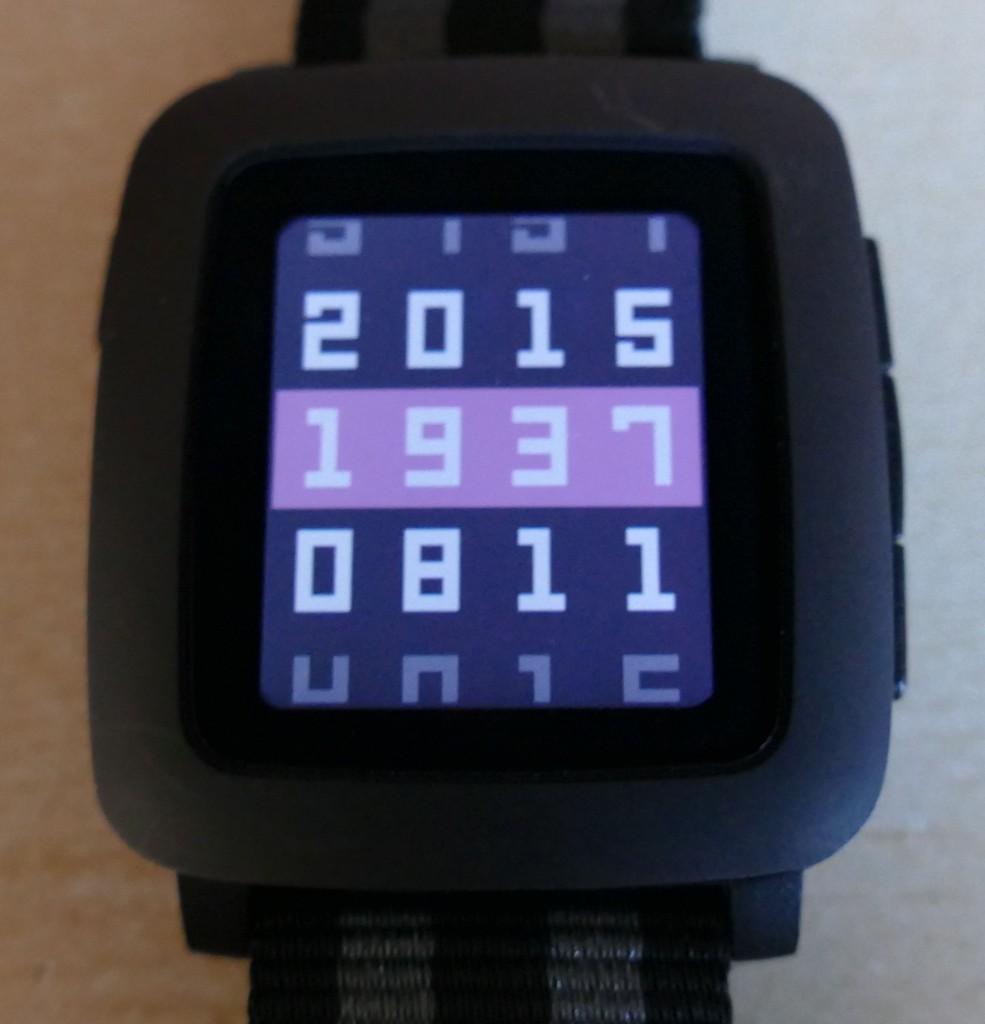 Pebble Time : le cadran Enigma