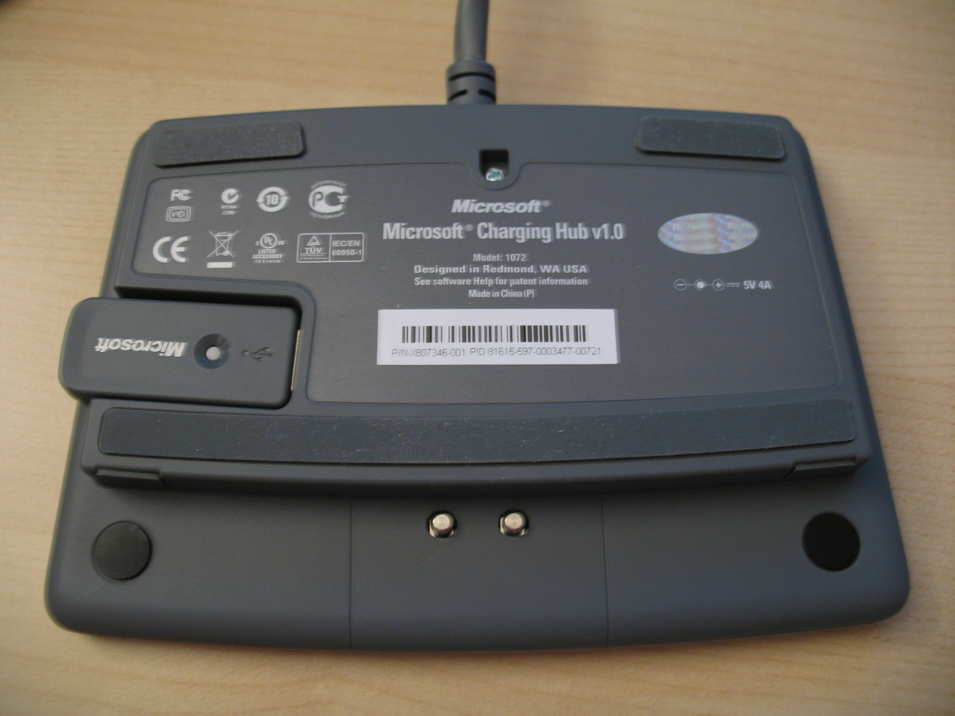 Dessous du chargeur du WED8000