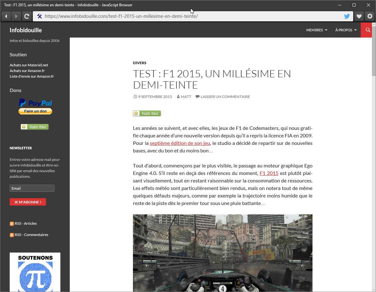 """Javascript Browser, le navigateur """"open-source"""" de Microsoft"""