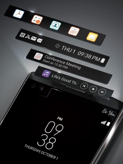 Le deuxième écran du LG V10