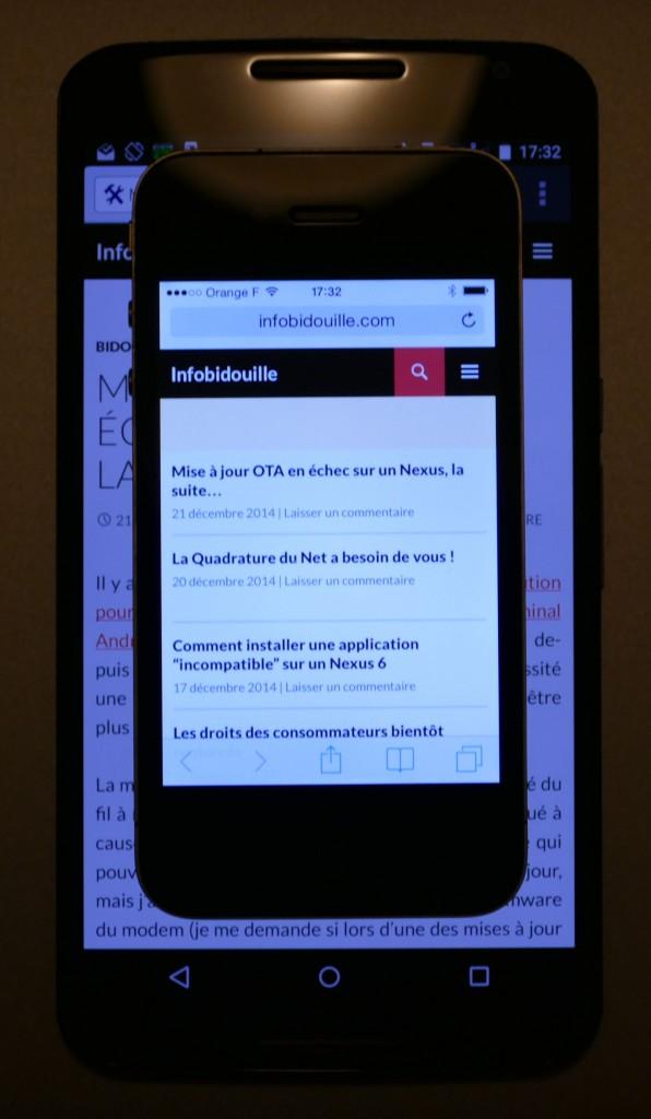 Nexus 6 vs iPhone 4