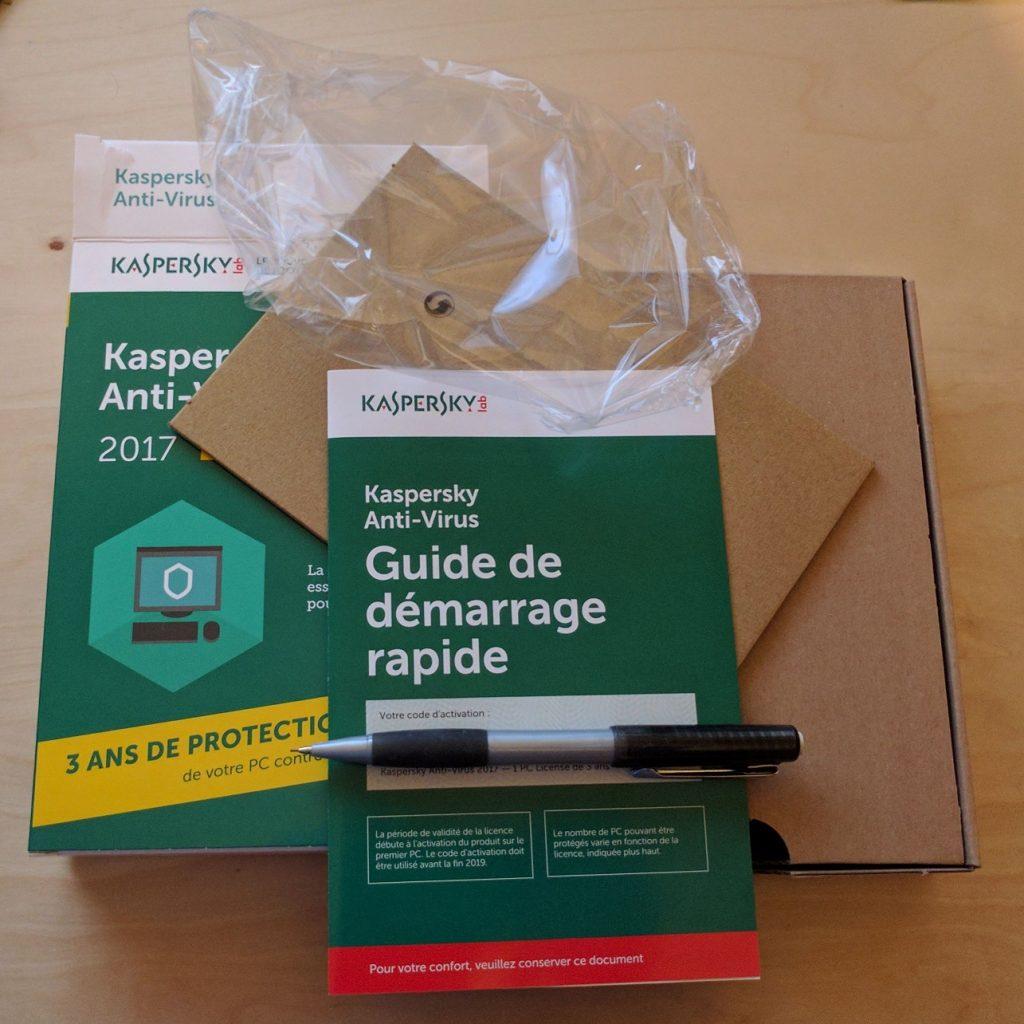 Emballage Kaspersky