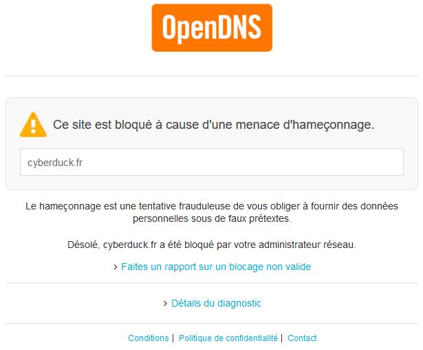 Blocage OpenDNS